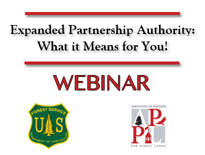 An image reading: Expanded Partnership Authority: What it Means for You Webinar.