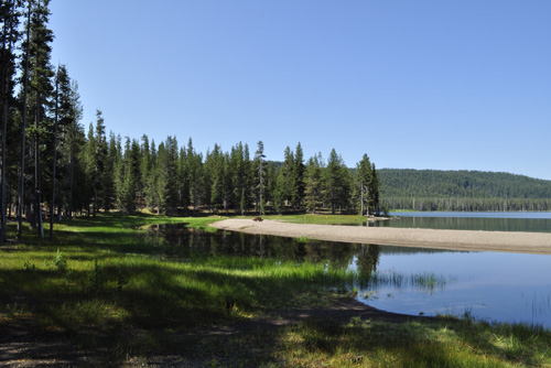 Medicine Lake on the Doublehead Ranger District