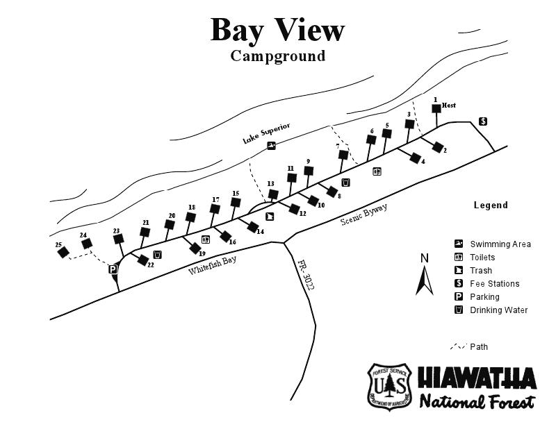 Bay View Campground Map 2014