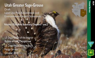 Cover page for the Utah Greater Sage-Grouse Draft Environment Impact Statement
