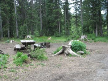 Photo of a campground site