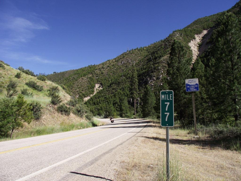 Boise to Stanley - Mile post 77