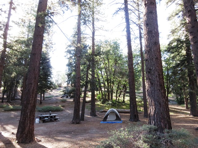This campground is located about halfway between Lake Arrowhead and Big Bear Lake.