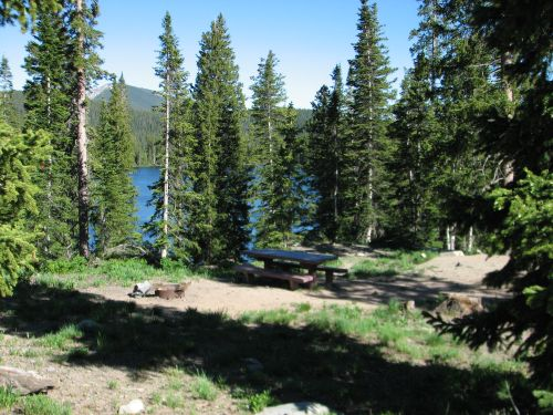 Photo of typical Irwin campsite.
