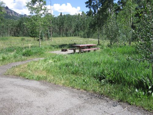 Photo of typical campsite.