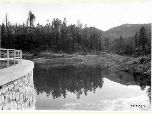 Historic photo of Horsethief Lake taken in 1920