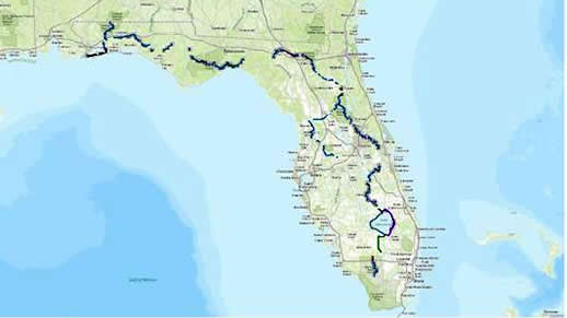 Lady Loggers Creek Tent Campers Map Of The Florida National Scenic Trail