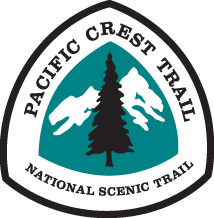 This is the logo for the Pacific Crest Trail which stretches from Mexico to Canada