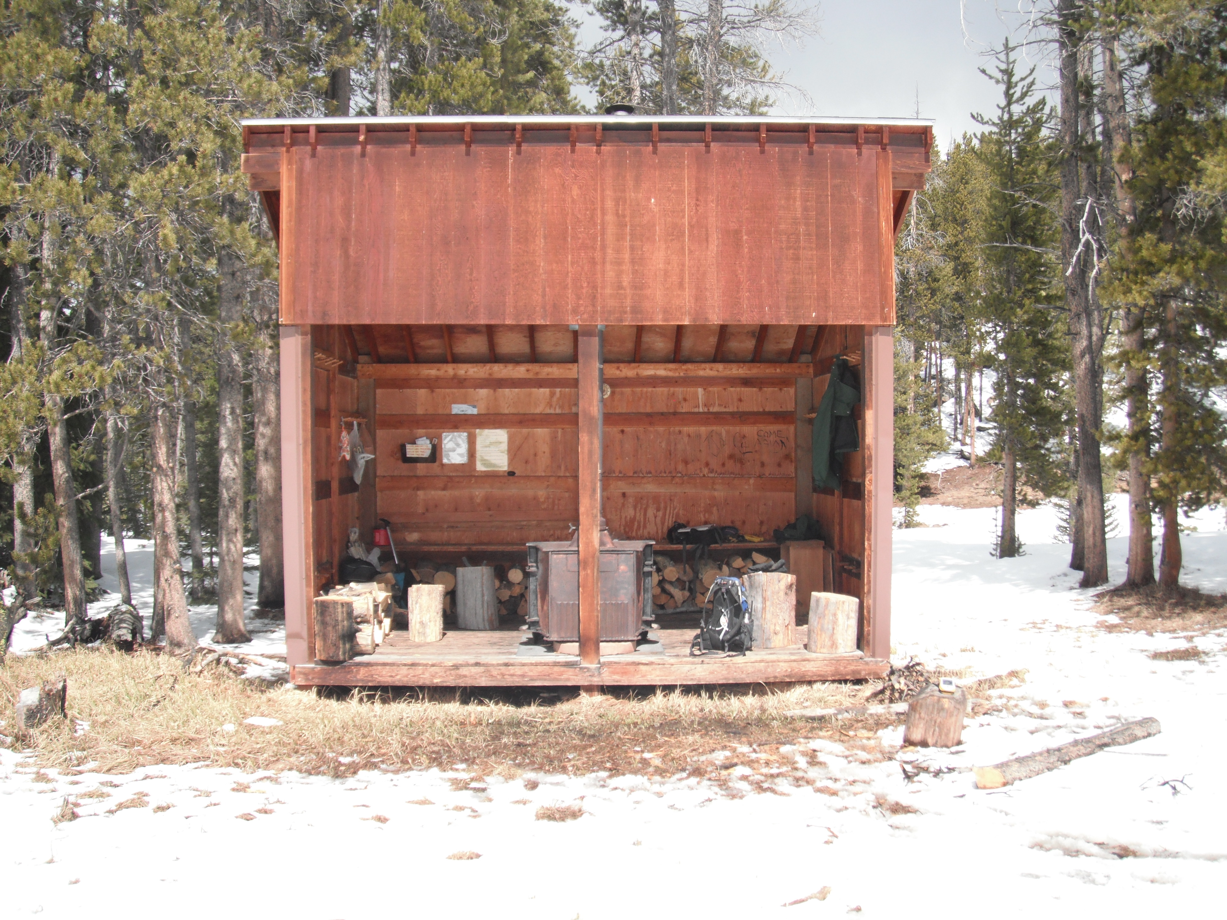 photo of sibley ski hut