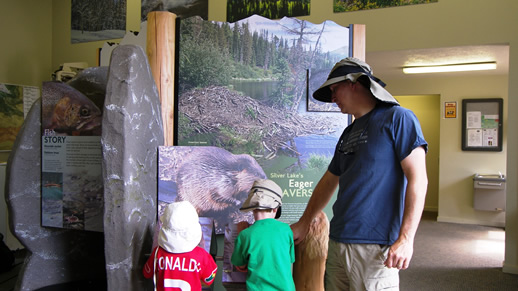 Photo of the Eager Beavers display at the visitor center.