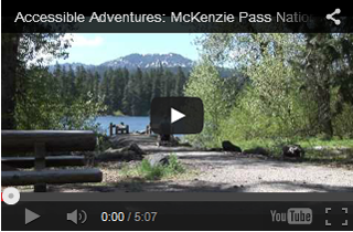 Opening screen for McKenzie River Accessible Adventures Video