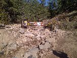 Flood damage at the entrance to Lefthand OHV area