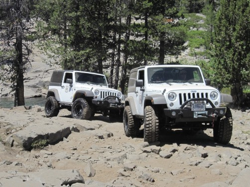 Two Tahoe NF modified Jeeps on Fordyce Trail