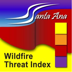 This is the logo for the Santa Ana Wildfire Threat Index Tool/Website.