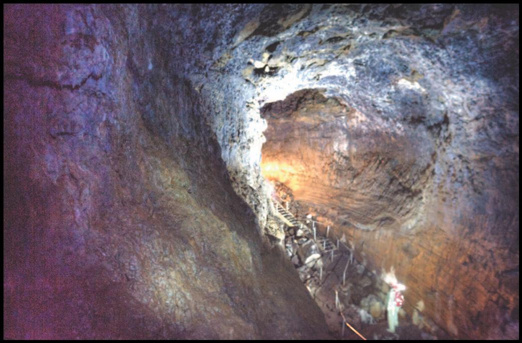 Photo of the entrance of lava river cave.