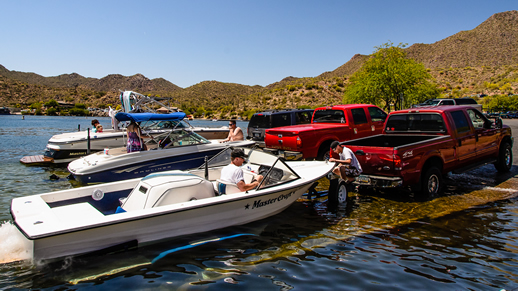 Saguaro Lake - Boats and Boat Ramp