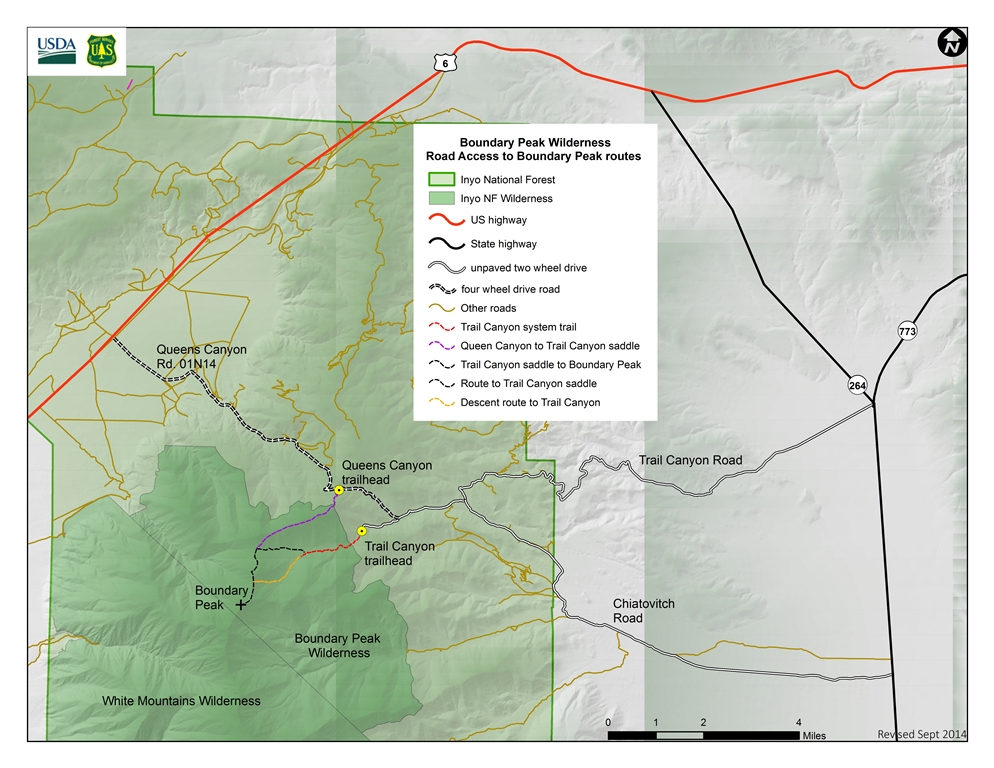 Boundary Peak Access Map