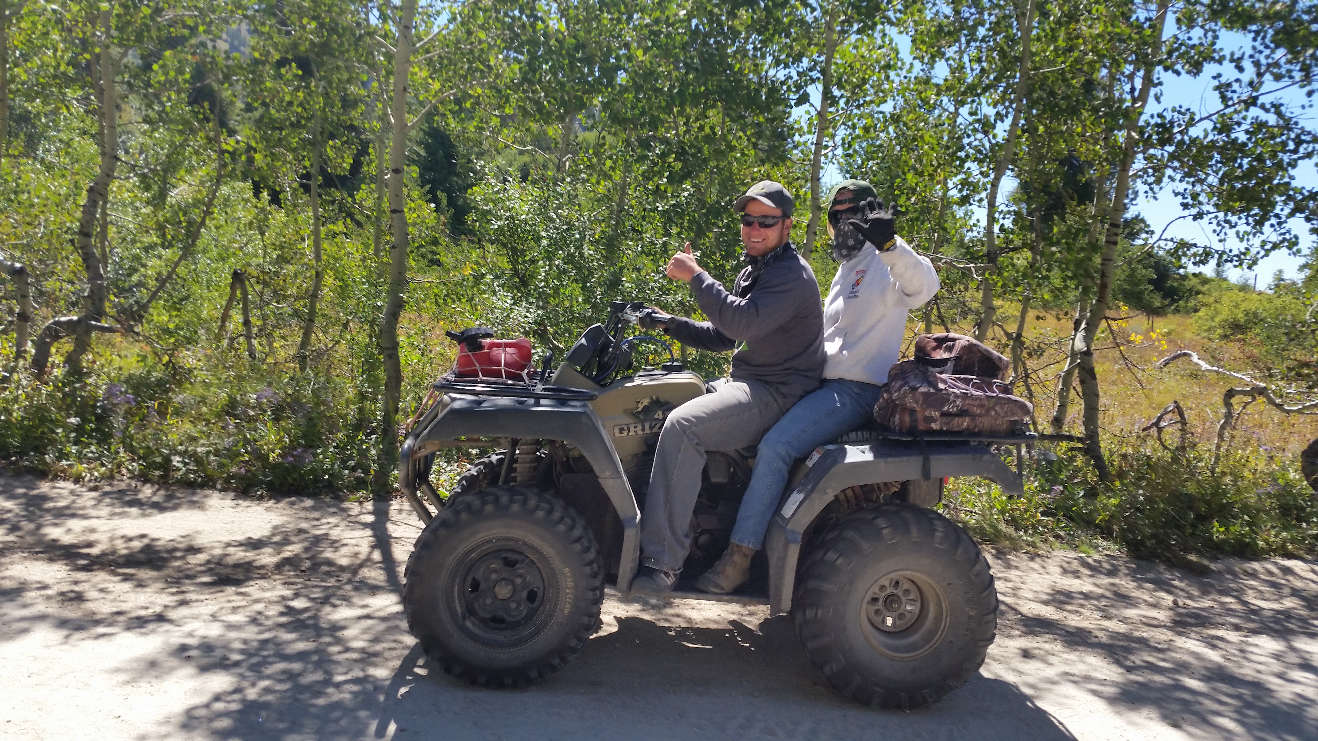 Forest visitors enjoying an ATV ride