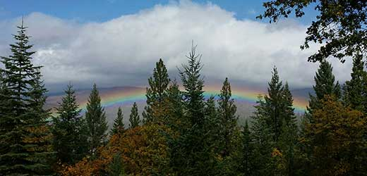 Rainbow over the Plumas