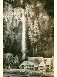 Multnomah Falls and Lodge historic photo.