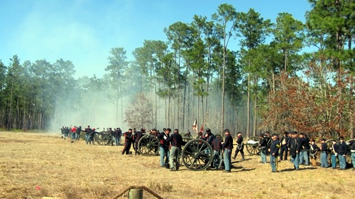 The Olustee Battlefield marks where a decisive Civil War battle took place on this forest.