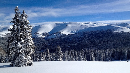 View from the mountain ski area courtesy of Marcus Dreux.