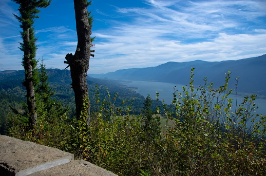 View Of The Columbia River Gorge From Cape Horn Overlook