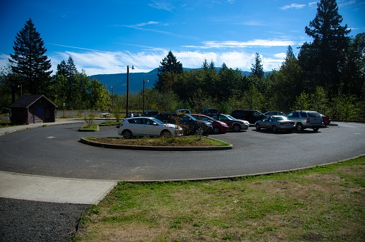 Salmon Falls Park & Ride, across the road from the Cape Horn Trailhead.