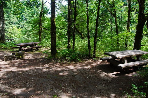 Individual campsites at Eagle Creek Overlook Group Campground