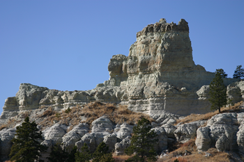 Capitol Rock, listed as part of the National Register of Natural Landmarks