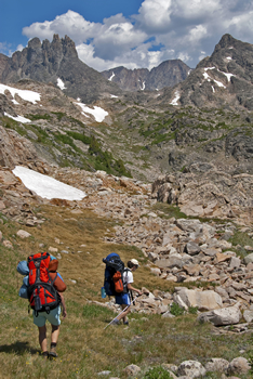 Hikers in the Absaroka-Beartooth Wilderness