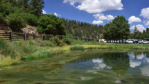 Big Springs pond reflections, North Kaibab R.D.