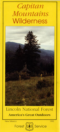 Cover image for the Capitan Mountains Wilderness Map