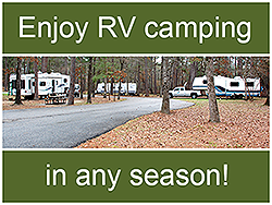 Go RV camping any time of year.