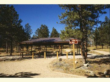 Jacks gulch Group Campground Pavilion Area