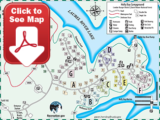 Holly Bay Campground Map