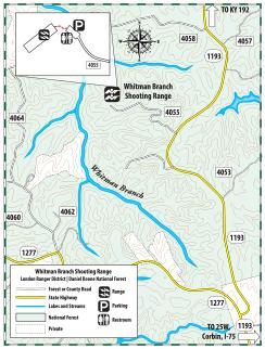 Whitman Branch Shooting Range Map