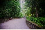 Multnomah Falls path to Waterfall, viewing plaza and Benson Bridge