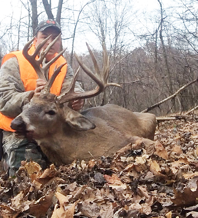 Shane Allen with his trophy buck.