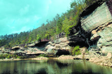 Cliffllines at Laurel River Lake