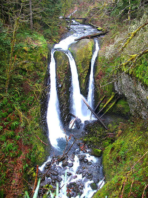 Triple Falls in Columbia River Gorge