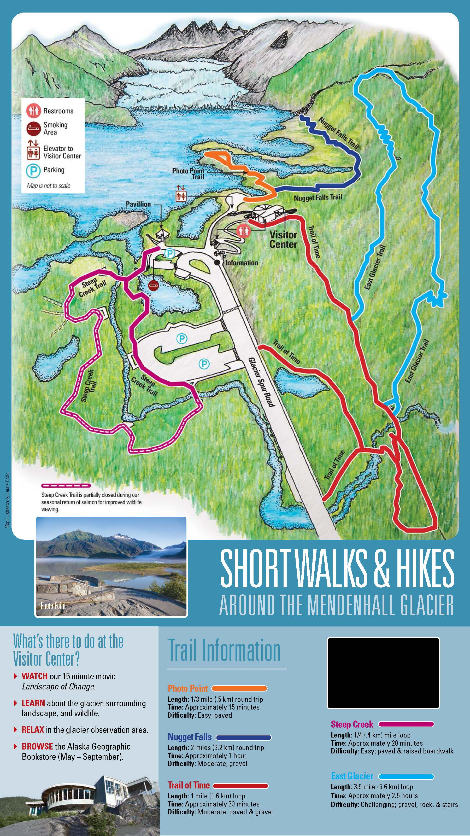 Mendenhall Glacier Recreation Area Map