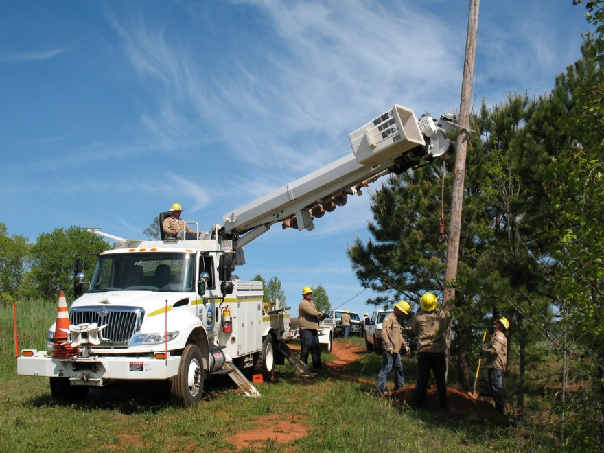 Power line work being done on FM&S National Forest