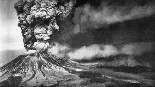 Mount St. Helens on May 18, 1980