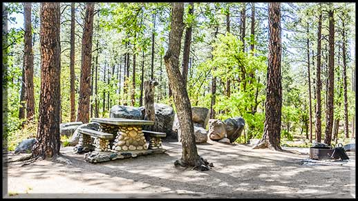 Spacious campsite next to Wolf Creek