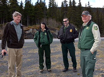 Ted Bechtol, Superintendent, Capitol Grounds, visits the Chugach National Forest