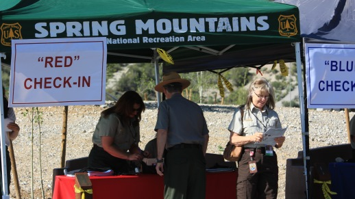 Guests checking in at the Spring Mountains Visitor Gateway grand opening, an invitation-only event held on May 29, 2015 from 10 a.m. – 4 p.m.