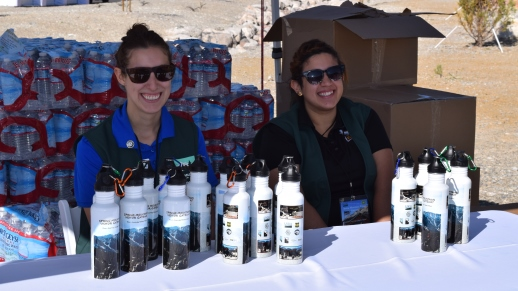 Guests received a commemorative water bottle at the event that recognized many people's tireless efforts and the beginning of a new chapter in the management and operation of the Spring Mountains National Recreation Area.