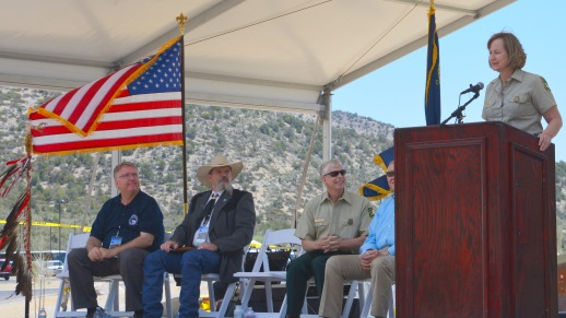 Nora Rasure, Intermountain Regional Forester, USDA Forest Service, co-dedicated the Spring Mountains Visitor Gateway that is both a destination and portal for visitors.