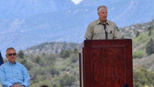 Tom Tidwell, Chief, USDA Forest Service, co-dedicated the world-class Spring Mountains Visitor Gateway.